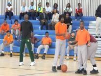 NBA Champion Craig Hodges visits New Beginnings
